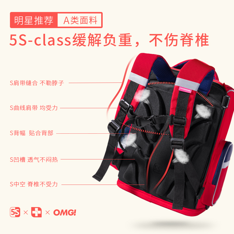 Kk tree children's school bag girls 6-12 years old primary school students 1-3-6 grade girls backpack shoulder protection