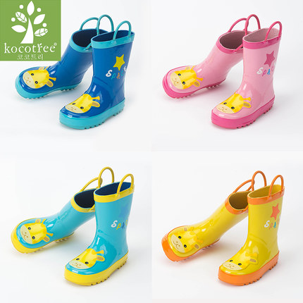 Children's Rain Boots Kk tree cute boys and girls four seasons non-slip rain boots princess baby water shoes
