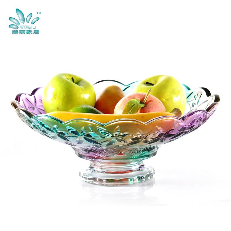 碧丽玻璃高脚水果盘329