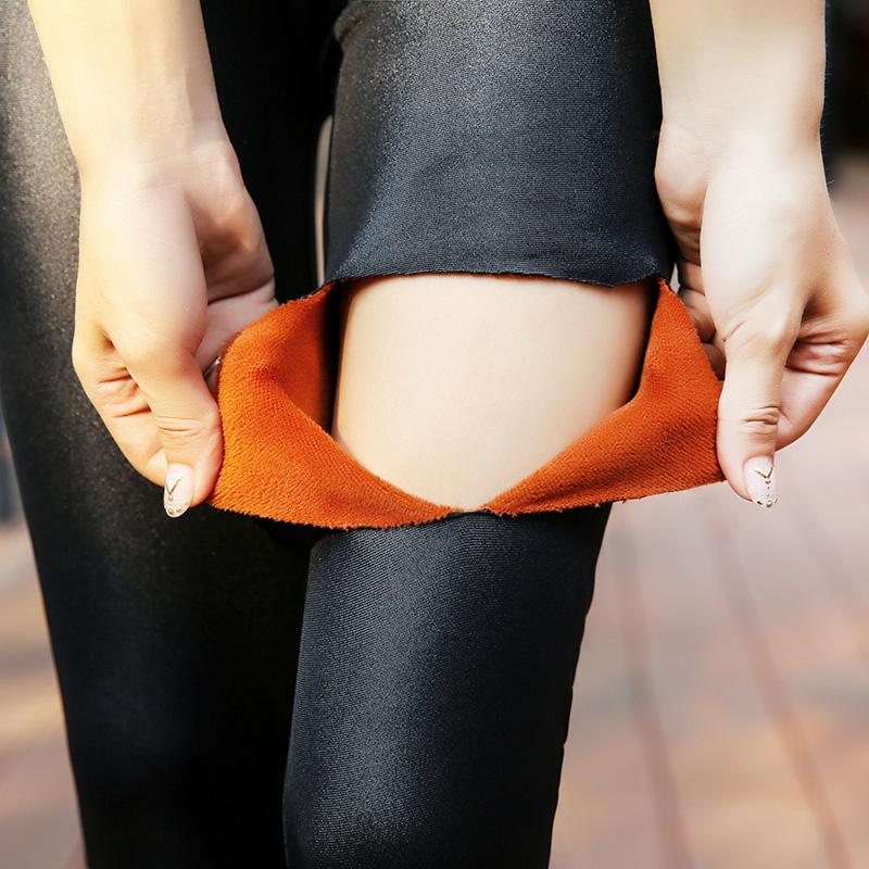 2016冬季加厚皮裤女加绒打底裤外穿黑色小脚裤弹力修身显瘦长裤子产品展示图2