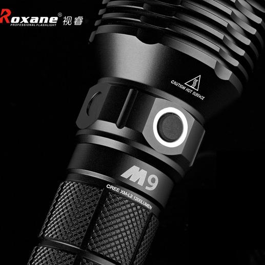 视睿Roxane M9 2节26650充电强光手电筒 家用户远射续航长高亮LED