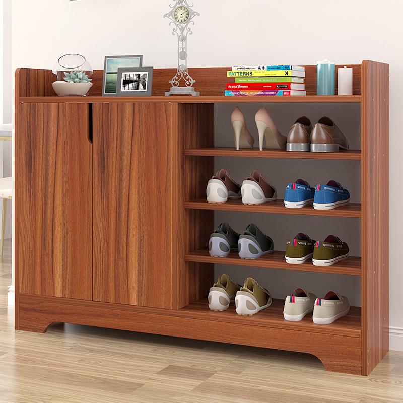 门口鞋柜简易组装经济型省空间家用简约现代门厅柜仿实木色玄关柜