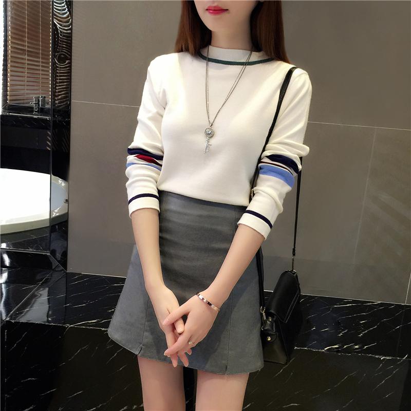 2018秋冬装新款韩版时尚网红短裙洋气毛衣神宽松秋季女套装两件套