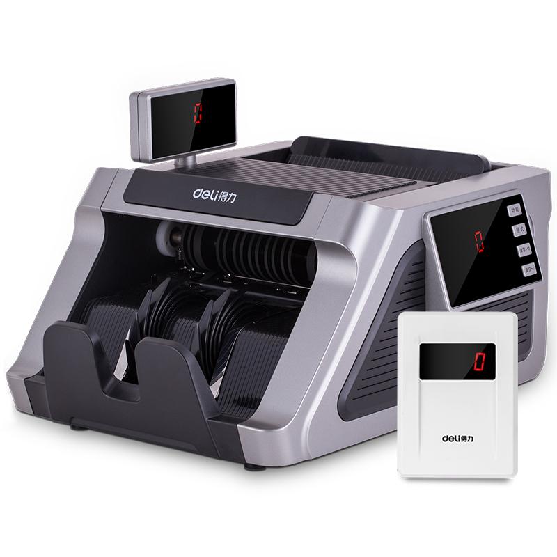 得力33316点钞机银行专用B类验钞机小型新版人民币智能语音便携式