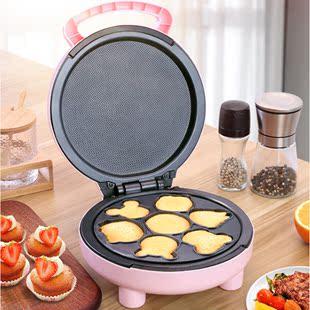 儿童卡通蛋糕机两用 全自动迷你电饼铛烤披萨机烘焙双面加热