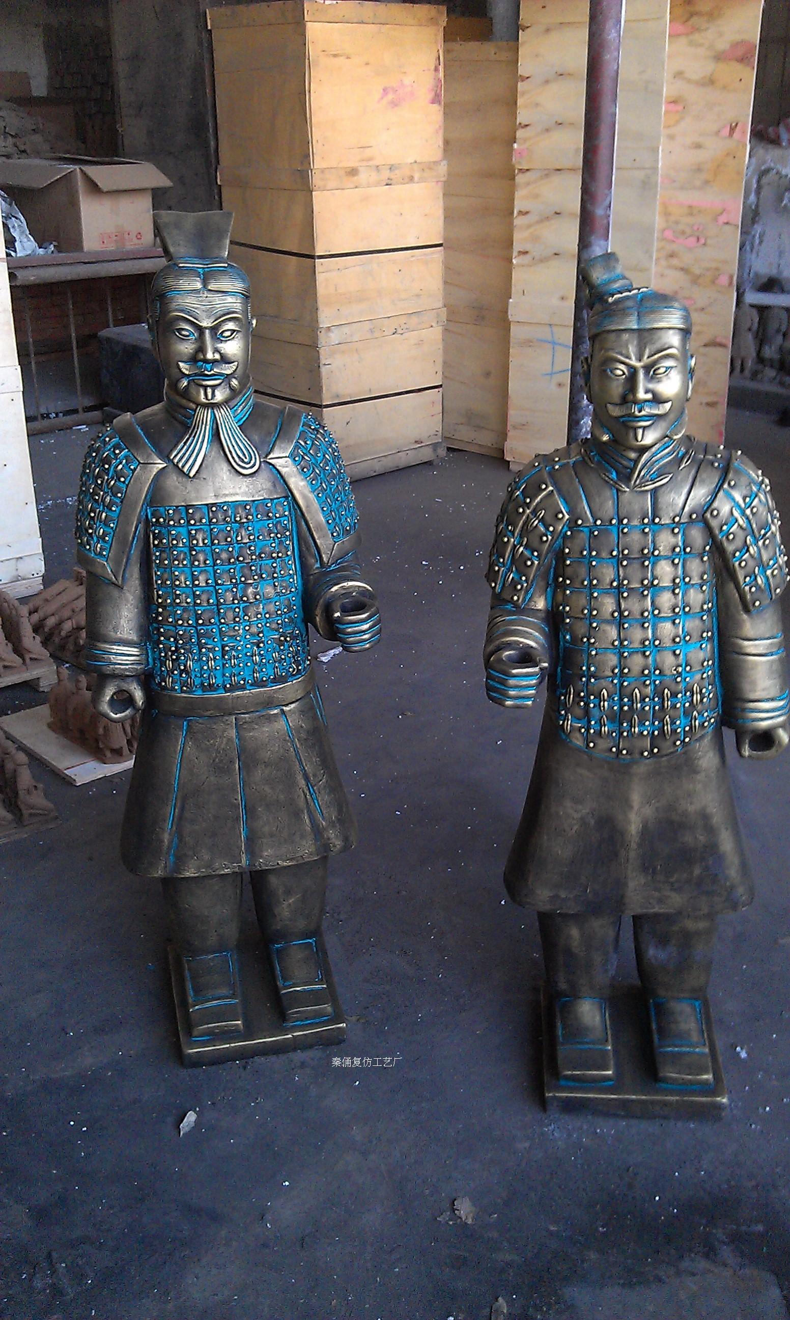 Глиняная утварь имитированная под старину Фабрики собственн-120см имитация бронзы армия чиновников статуэтки, фигурки ограниченными возможностями метил, Бесплатная доставка различных цвет опционный