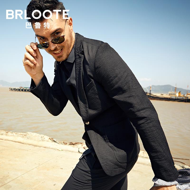 Brloote-巴鲁特时尚商务休闲西服男单粒扣修身西装便西 2018秋装