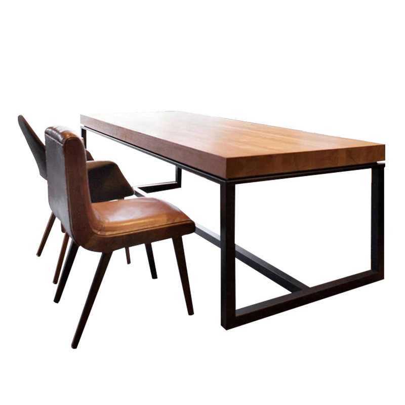 American Loft Solid Wood Desk Meeting Table Bar Table Simple Modern - Desk with meeting table