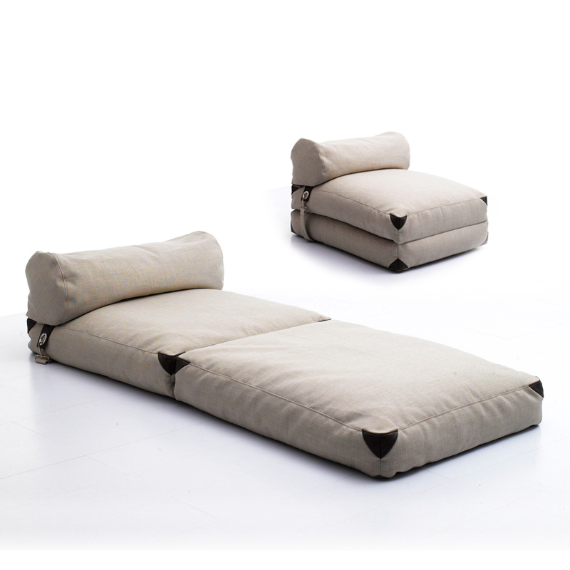 Lazylife Simple Anese Lazy Sofa Tatami Foldable Bed Fabric Single Small