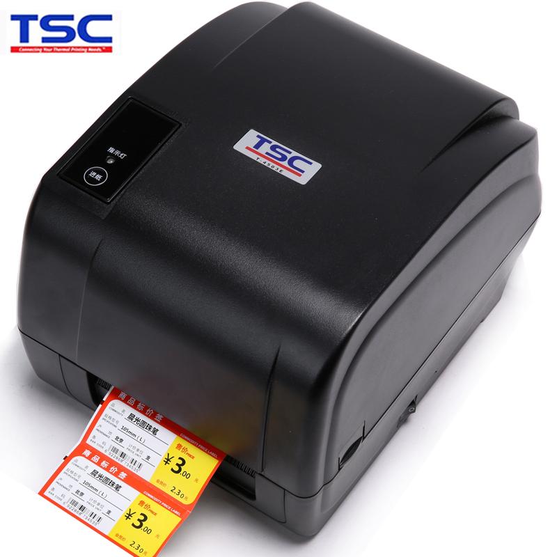 TSC 4503e条码打印机 不干胶服装吊牌水洗唛 珠宝价格标签打印机