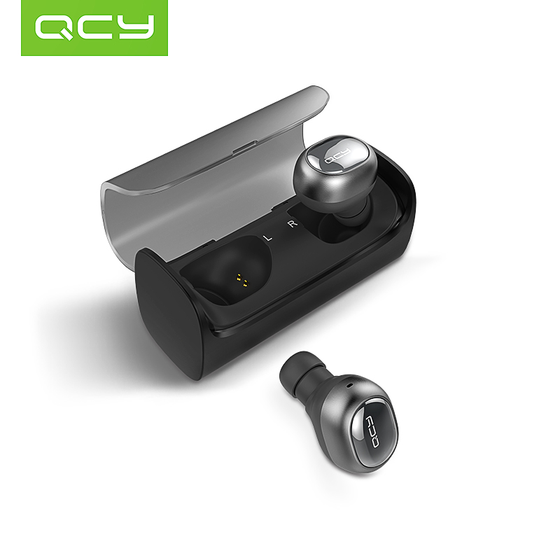 qcy q29 binaural wireless bluetooth headset 4 1 apple ultra small invisible e. Black Bedroom Furniture Sets. Home Design Ideas