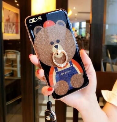 Glory 9 mobile phone shell Huawei g9 youth version v10 female silicone anti-fall creative personality v9 all-inclusive nine cute bear
