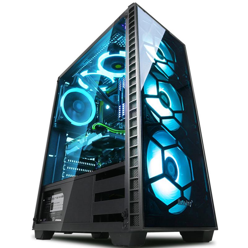 八代酷睿i7 7700升8700-GTX1050TI 台式吃鸡游戏水冷电脑主机全套