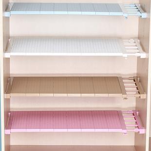 衣柜收纳分层隔板橱柜内隔层免钉伸缩宿舍置物架分隔板柜子收纳架