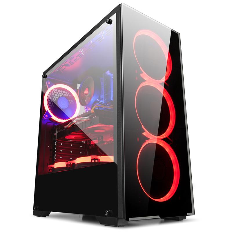 金河田 预见N17 ATX电脑机箱 台式机电脑主机箱水冷游戏机箱 侧透