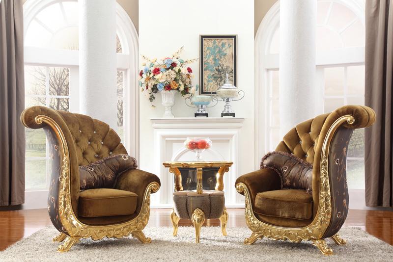 阿西娜欧式沙发椅 古典靠背椅 客厅坐凳 特色圈椅 木质休闲靠凳