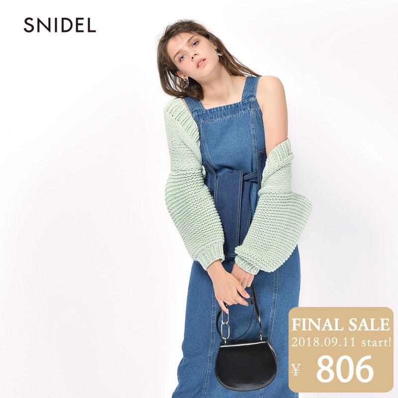 SNIDEL2018新品 甜美糖果色针织开衫SWNT181033