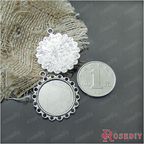 贴22mm宝石底托diy复古合金饰品配件底托合金手工材料玻璃香薰补充液50ml图片