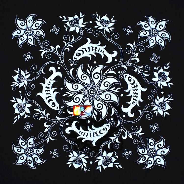 【天天特价】蜡染桌布 贵州苗族蜡染 蜡染画 壁挂 画