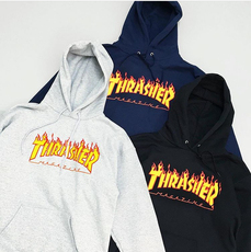 Full Zip Hooded Sweatshirt Thrasher Flame