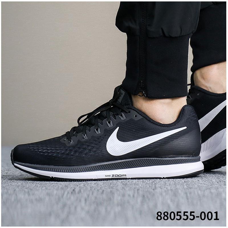 Nike耐克男鞋2018秋季Air Zoom 气垫运动鞋减震跑步鞋880555-001