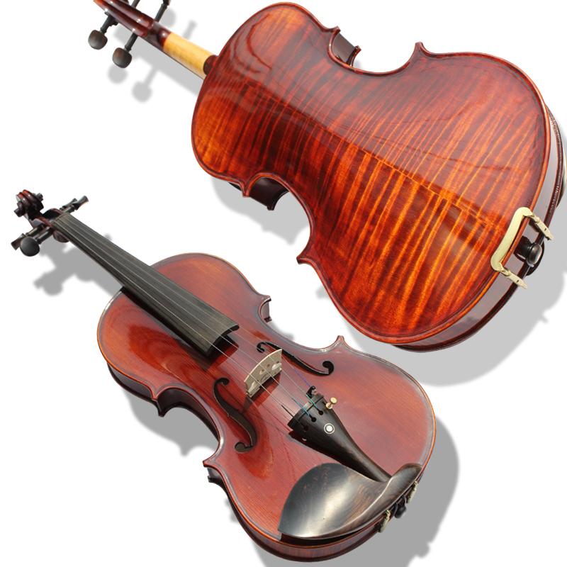 雅诗手工制作虎纹演奏 独奏 考级成人儿童初学者乐器小提琴