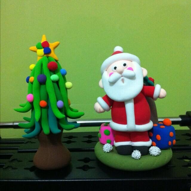 超轻粘土圣诞老人,圣诞树