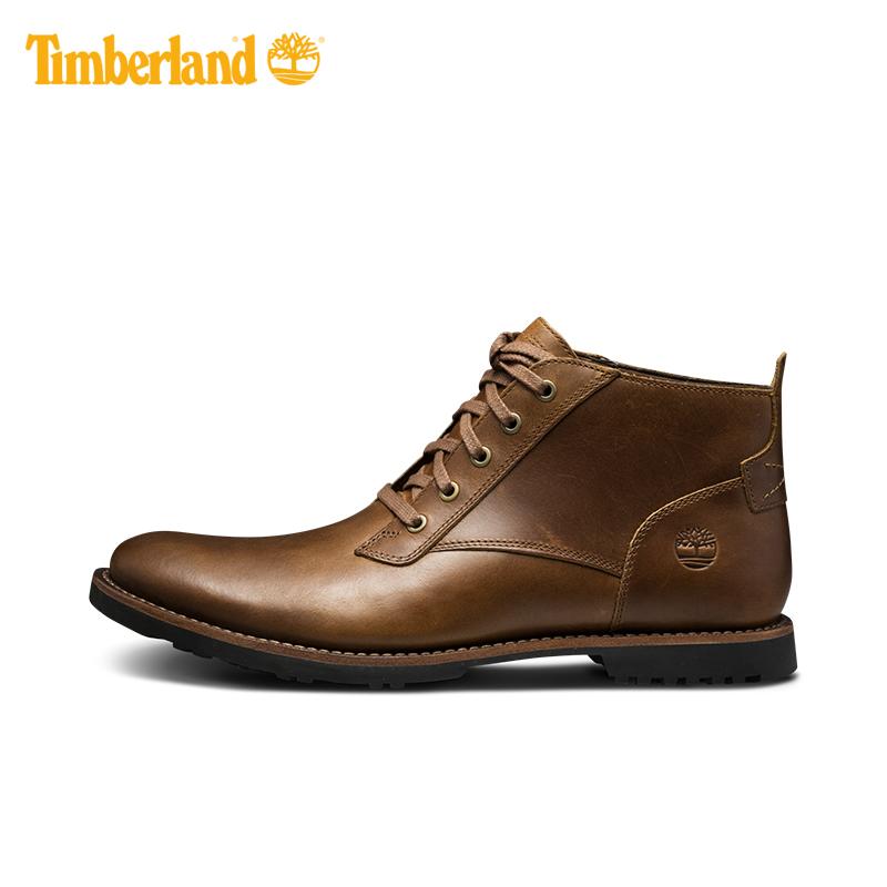 Timberland添柏岚男鞋新款户外轻便牛皮中帮商务休闲皮鞋|A1N2T