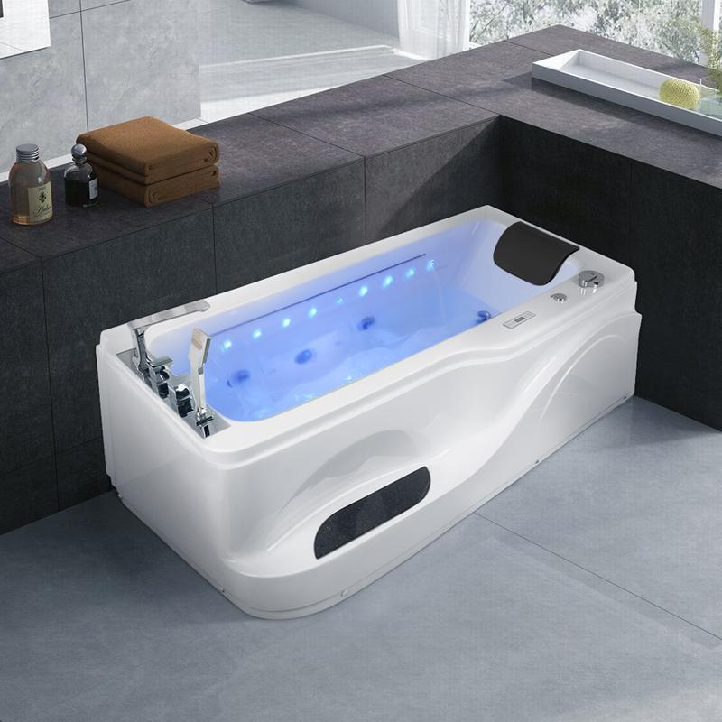 尚雷仕按摩浴缸恒温加热家用成人冲浪小户型卫生间独立式浴盆浴池