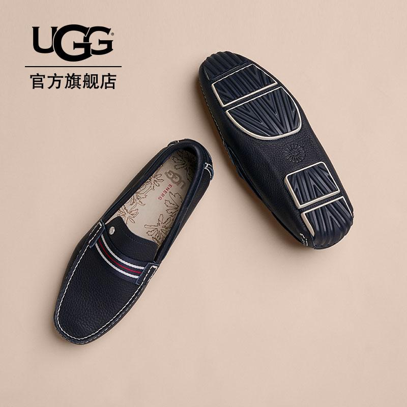 UGG2018夏季新款男士单鞋驰骋贝莱尔系列休闲商务皮鞋 1090211