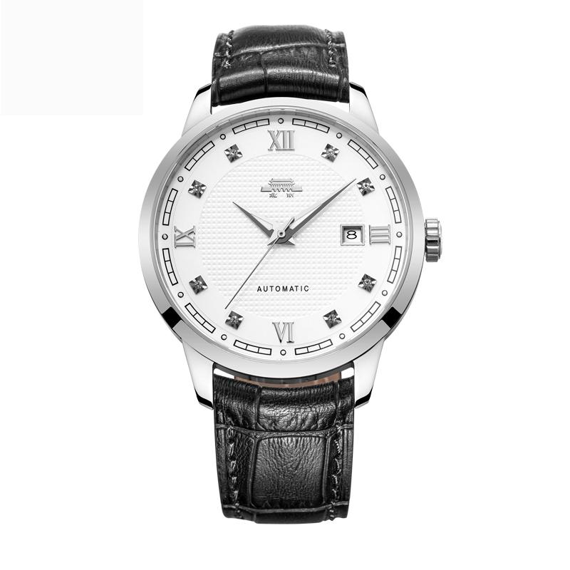 北京手表 豪士16ZG夜光指针男士镶钻自动机械男表商务大表盘腕表产品展示图5