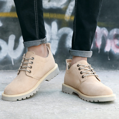 Martin boots men's spring trend tooling boots England boots low help retro men's boots summer new boots leather men's shoes