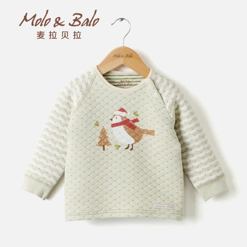 婴儿肩开保暖衣加厚婴儿衣服秋冬宝宝内衣彩棉宝宝肩开秋衣产品展示图1
