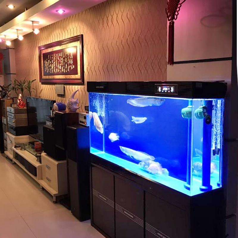 闽江鱼缸水族箱超白玻璃客厅底过滤免换水家用大型落地生态龙鱼缸