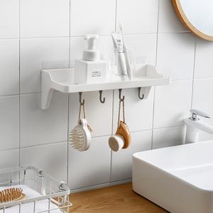 免打孔吸壁墙上置物架卧室家用墙壁浴室厨房卫生间墙面收纳架宿舍