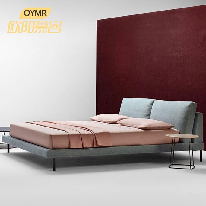 意大利北欧风格布艺床软床简约现代小户型1.8米1.5双人床婚床主卧