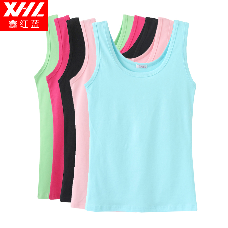 Xin/red and blue Lycra vests