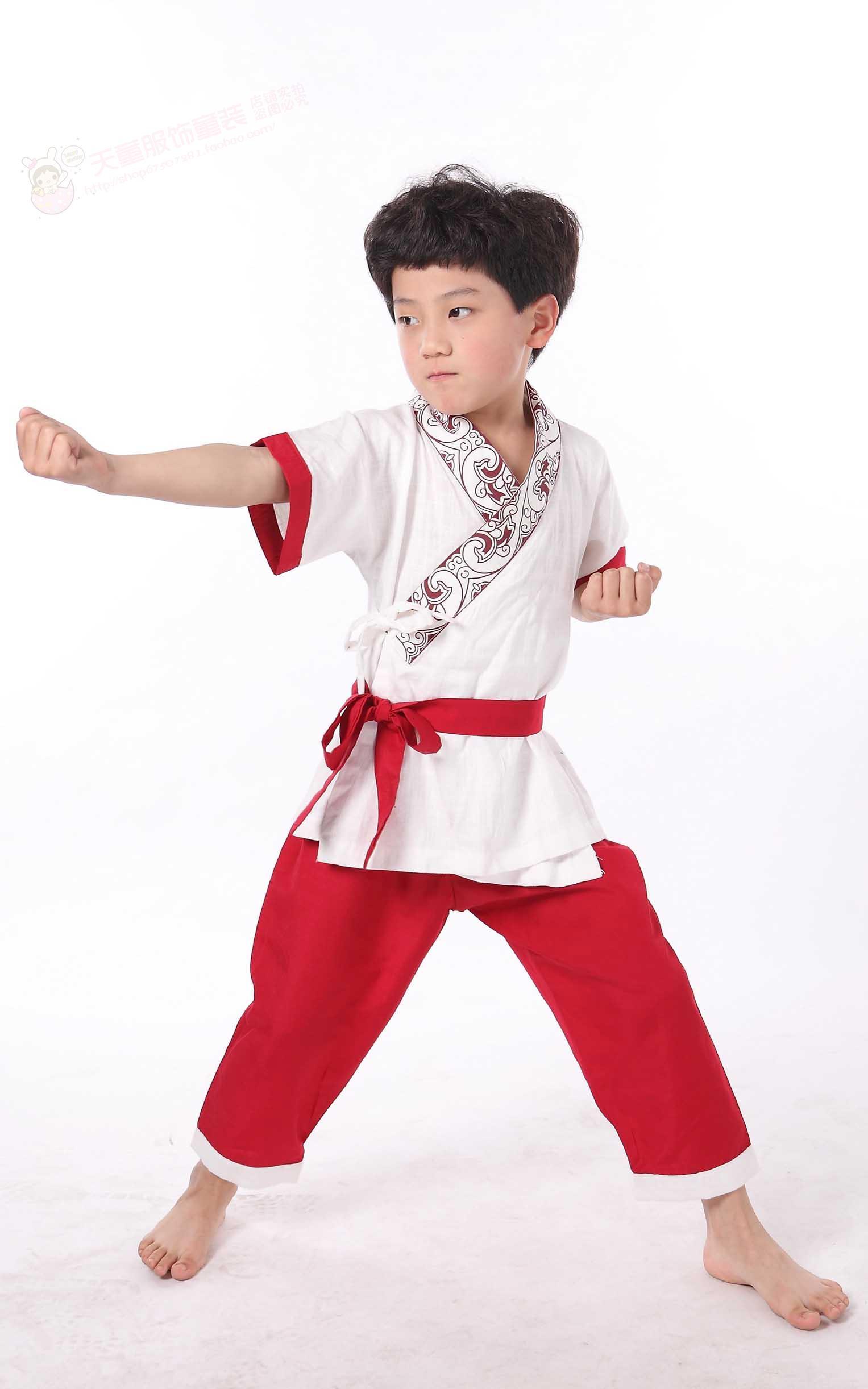 2015新款节儿童武术服装表演服儿童汉服演出服幼儿童国学舞蹈服