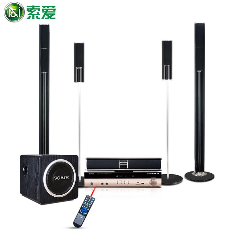 索爱 SA-Z1 5.1家庭影院音响套装电视客厅音柱式重低音炮3D环绕声音箱功放机K歌无线组合KTV