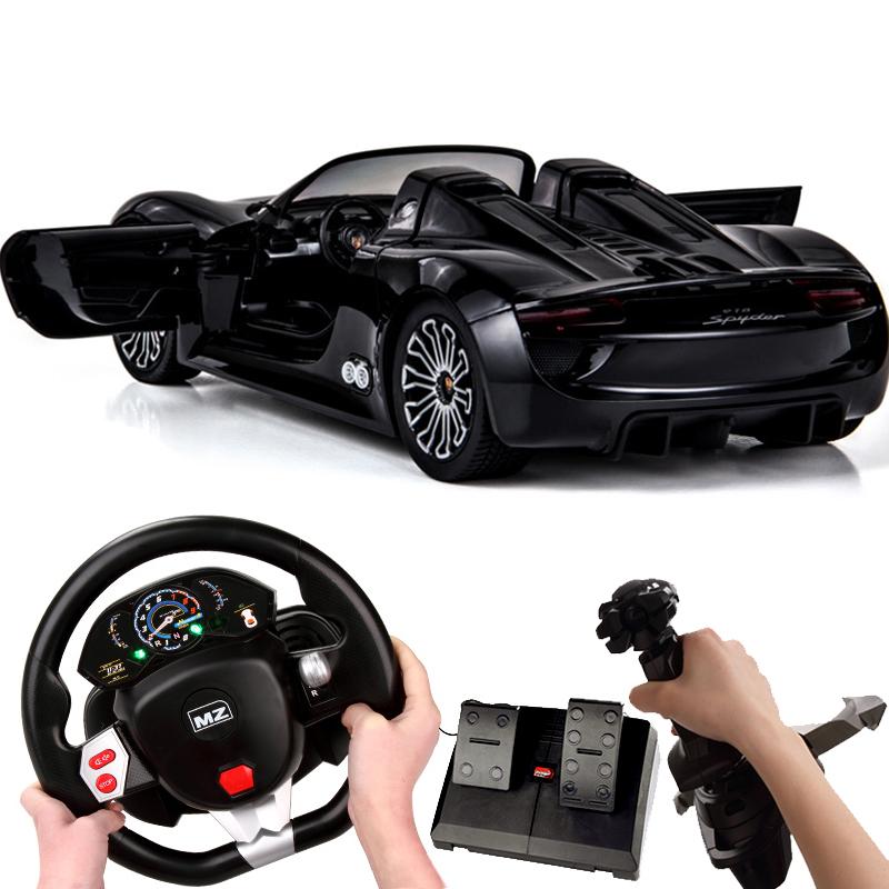 美致遥控汽车保时捷方向盘充电动男孩儿童玩具车高速赛车跑车模型