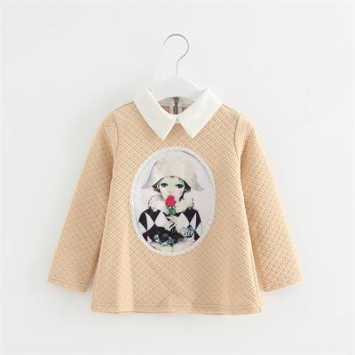 110-140 brand children's clothing withdraw the girl spring and autumn warm T-shirt long-sleeved bottoming shirt 43026