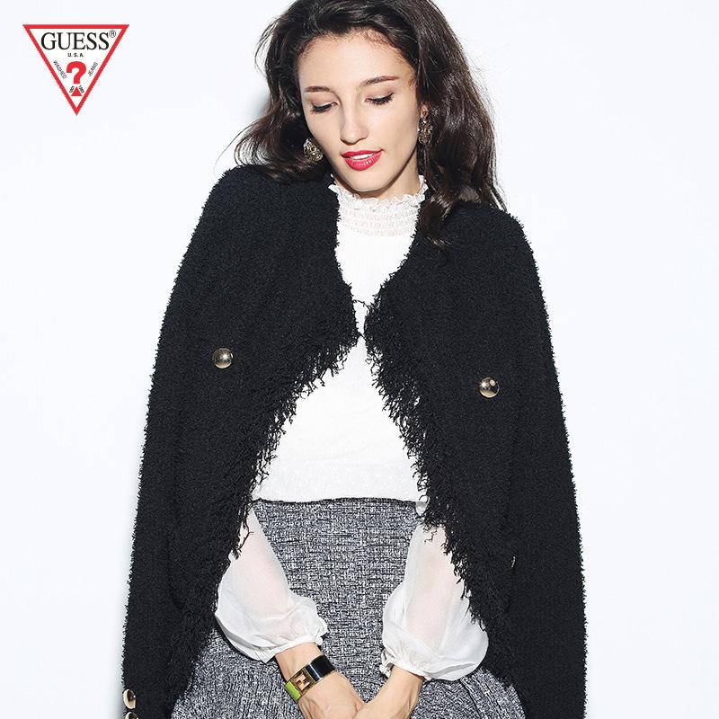 GUESS2018新款秋女士拼接工艺纯色针织夹克-W83R45Z23X0