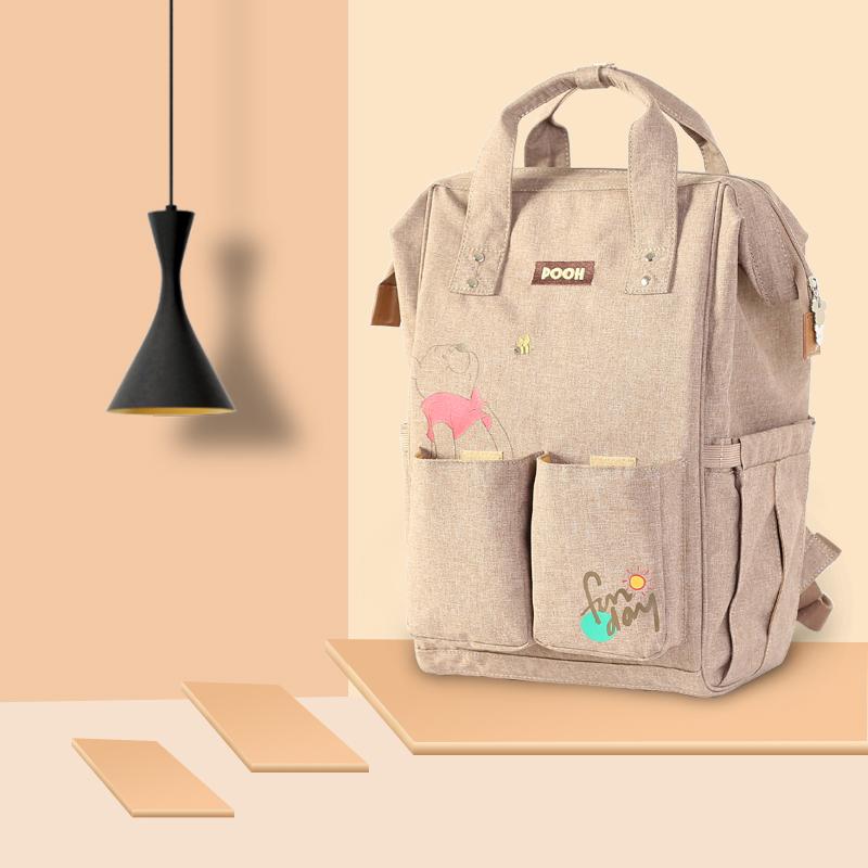 迪士尼妈咪包时尚双肩背包多功能大容量母婴包外出旅行妈妈背包