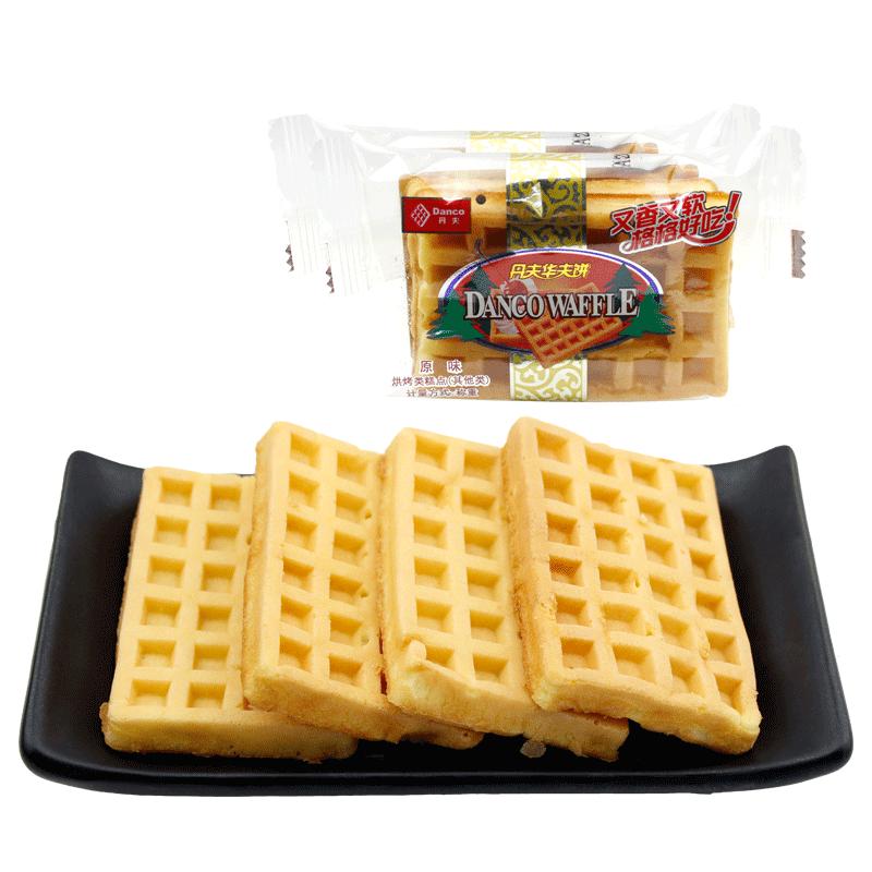 丹夫华夫饼整箱3斤原味奶油味西式糕点零食早餐点心蛋糕饼干小吃