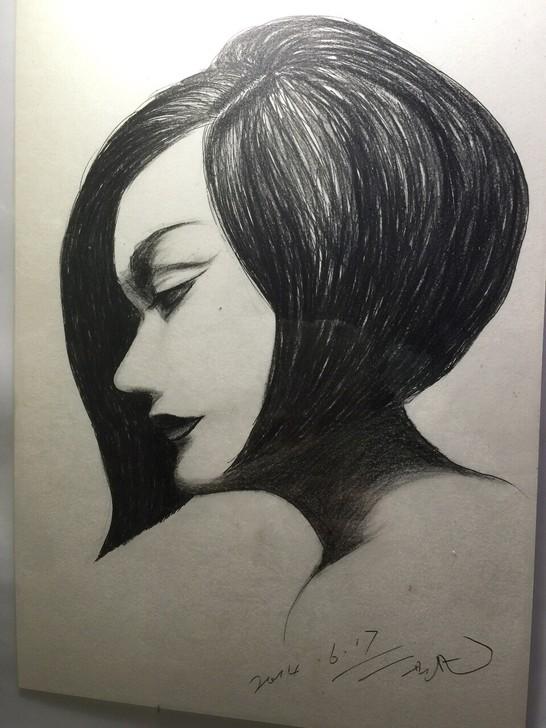 彩铅笔画 碳素笔画