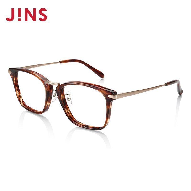 JINS睛姿含镜片近视眼镜框复古可加配防蓝光辐射镜片LCF15A306