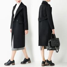 森系赫本羊绒呢子大衣女中长款修身显瘦百搭加棉外套韩国毛呢加厚