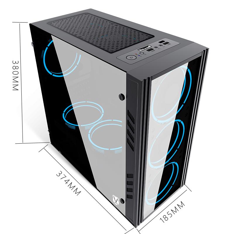 黑科技mini电脑玻璃小机箱台式机matx全侧透水冷电竞游戏主机箱