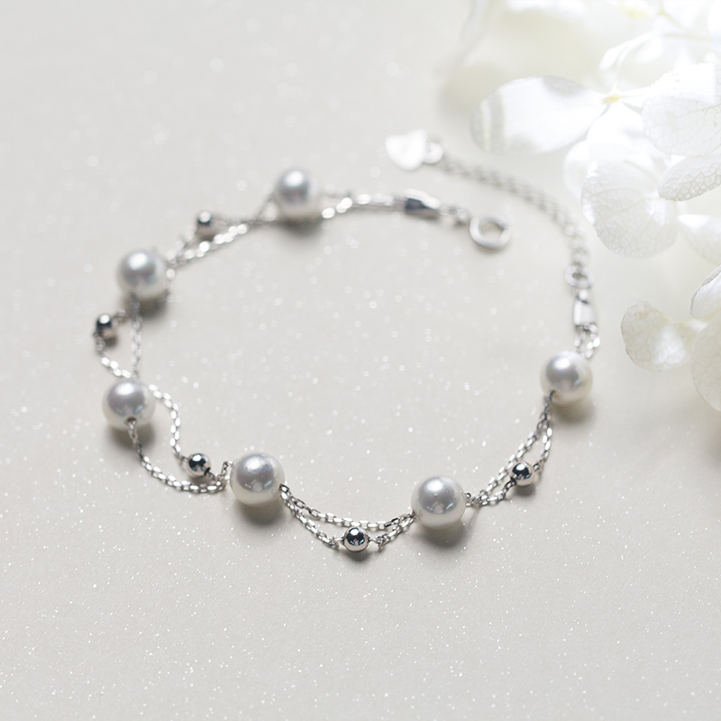 bracelet small synthetic golfer p item fresh silver female korean pearl beads double shell pic temperament jewelry