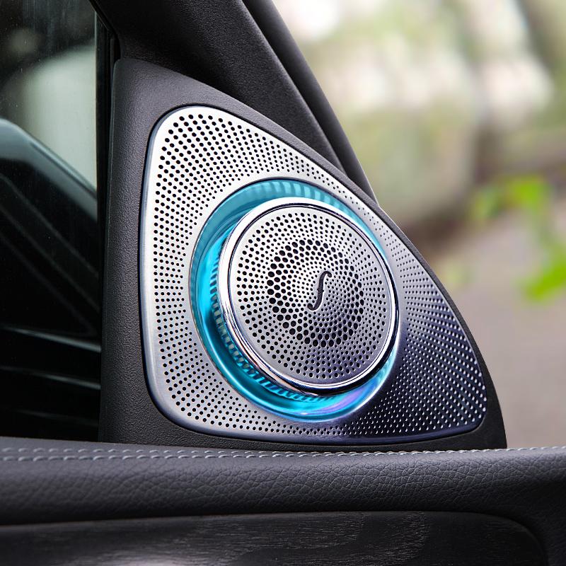 奔驰柏林之声音响改装 E级C级E300L C200 GLC260 3D旋转高音喇叭